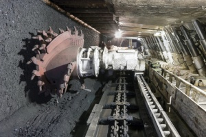 Coal extraction: Coal mine excavator