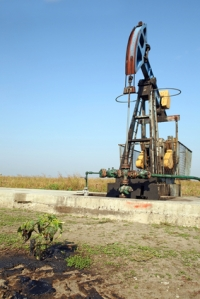Oil wells with pollution